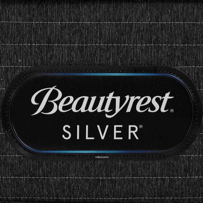 BRS900-TT-Plush Queen Mattress w/Low Foundation by Simmons Beautyrest Silver  alternate image, 5 of 6 images.