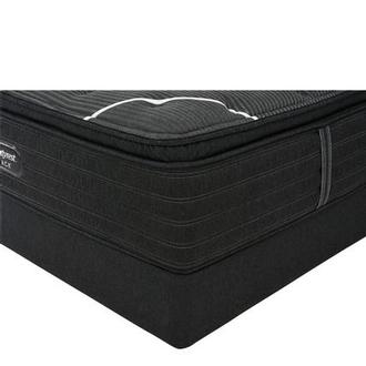 BRB-C-Class PT Queen Mattress w/Low Foundation by Simmons Beautyrest Black