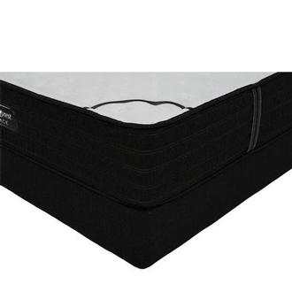 BRB-L-Class Firm Queen Mattress w/Regular Foundation by Simmons Beautyrest Black