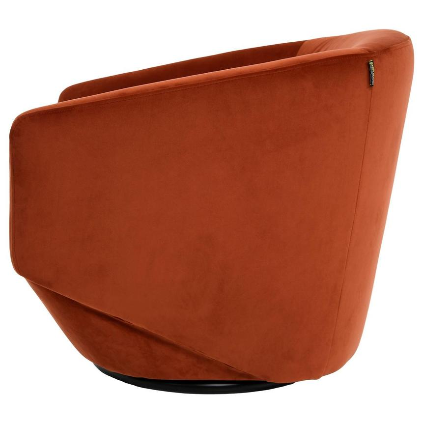 Andy Orange Swivel Accent Chair  alternate image, 3 of 5 images.