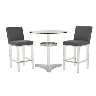 Mina Gray 3-Piece High Dining Set