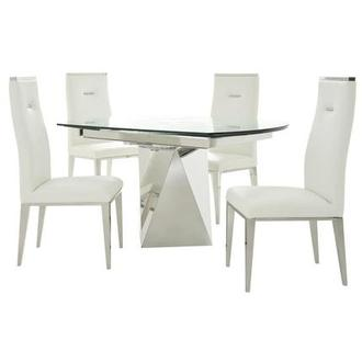 Ulona/Hyde White 5-Piece Formal Dining Set