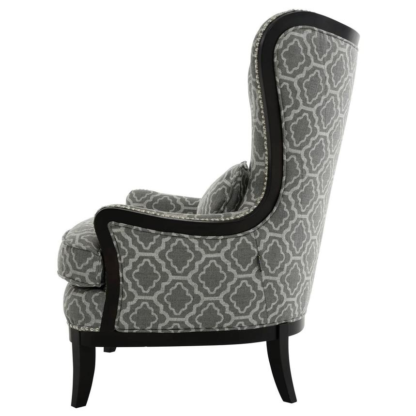 Elle Dark Gray Accent Chair  alternate image, 3 of 5 images.