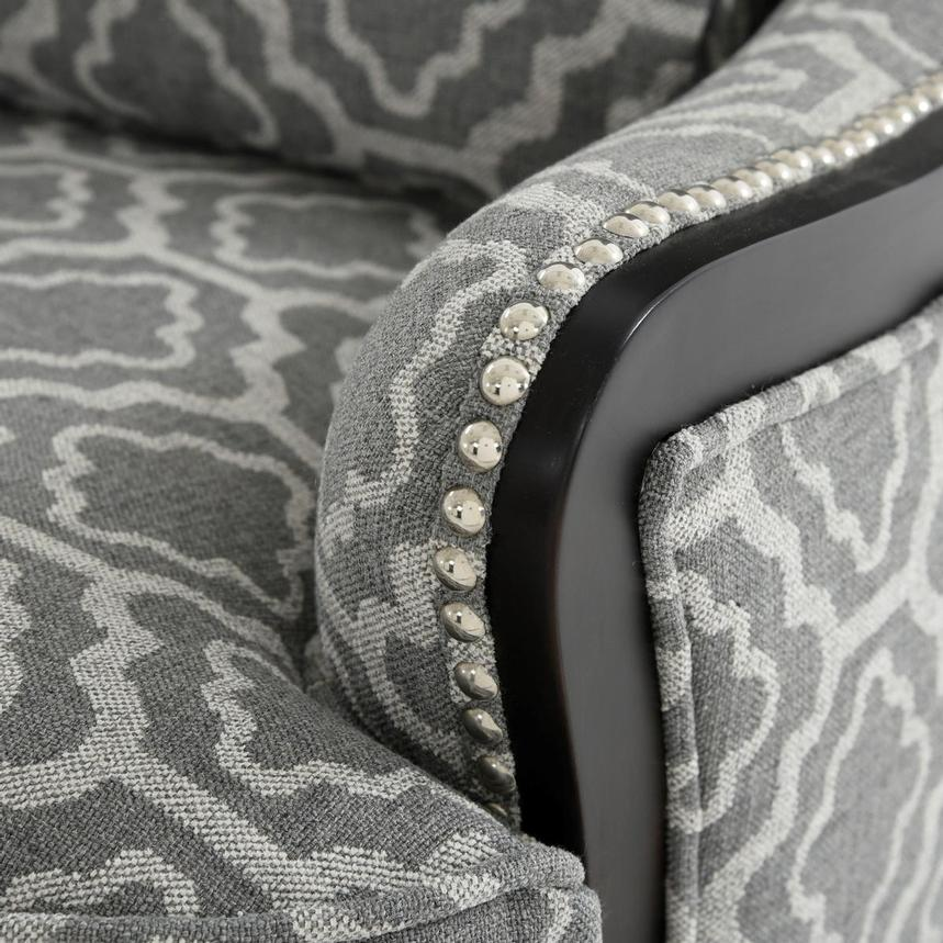 Elle Dark Gray Accent Chair  alternate image, 5 of 5 images.