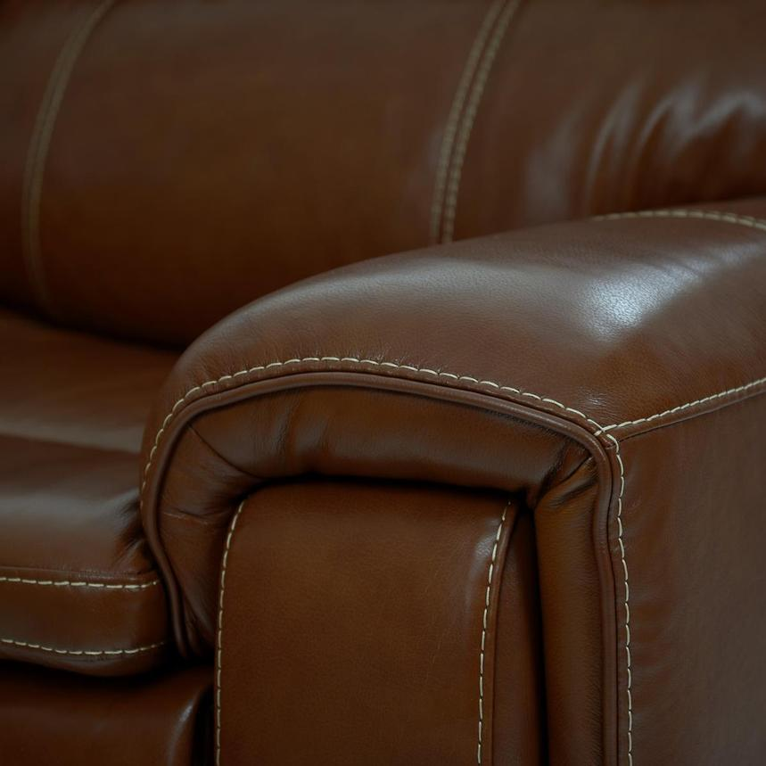 Napa Tan Home Theater Leather Seating  alternate image, 8 of 10 images.