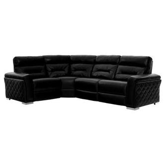 Kim II Black Power Motion Leather Sofa w/Right & Left Recliners