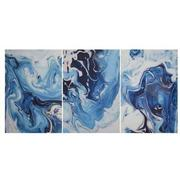 Azure Set of 3 Acrylic Wall Art  main image, 1 of 3 images.