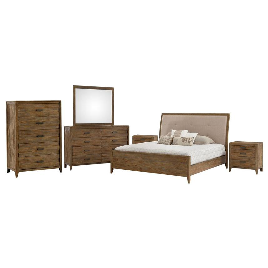 Turino 6-Piece Queen Bedroom Set  main image, 1 of 6 images.
