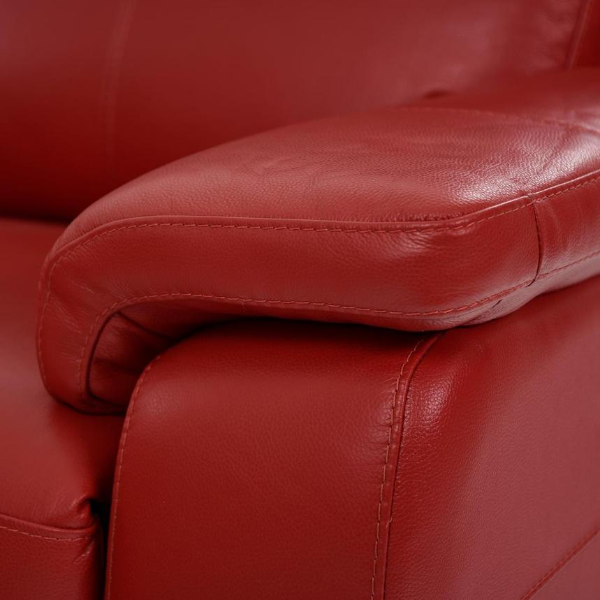 Barry Red Home Theater Leather Seating  alternate image, 8 of 11 images.