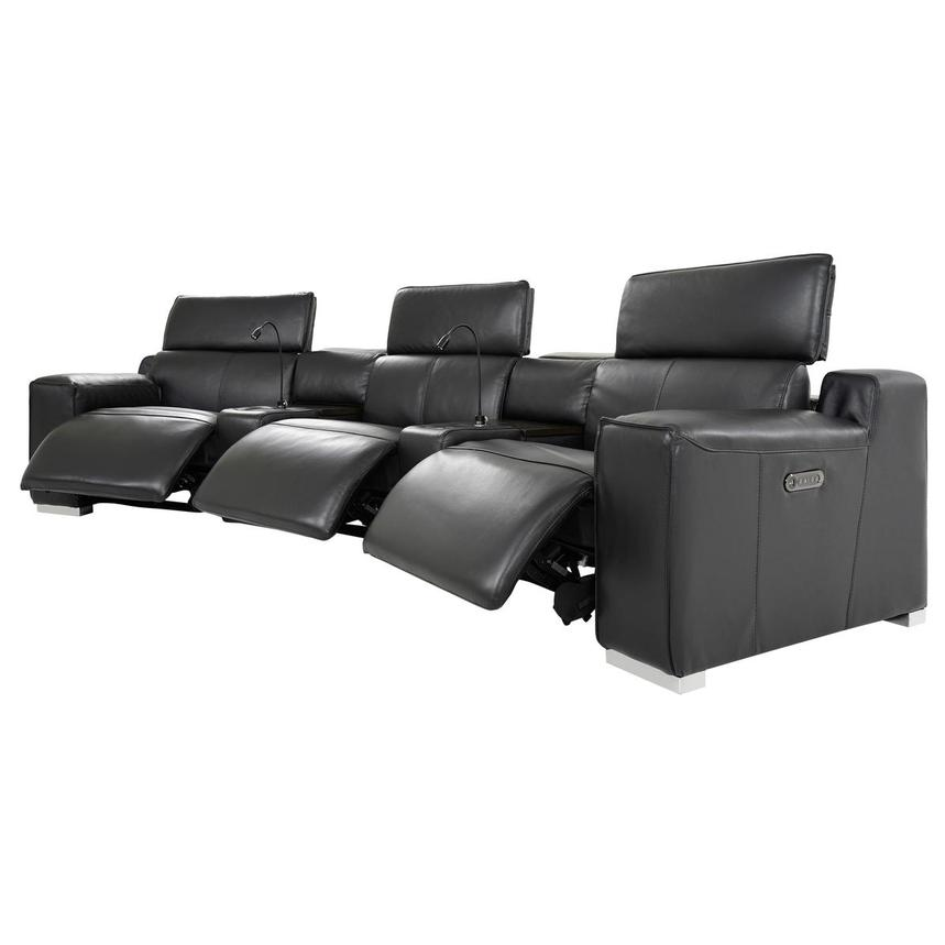 Jeremy Home Theater Leather Seating  alternate image, 3 of 14 images.