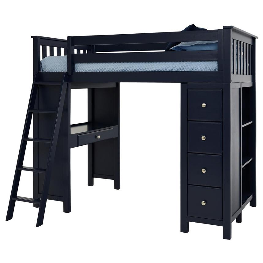 Haus Blue Twin Loft Bed  alternate image, 3 of 12 images.