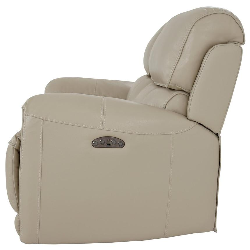 Cody Cream Leather Power Reclining Loveseat  alternate image, 4 of 11 images.