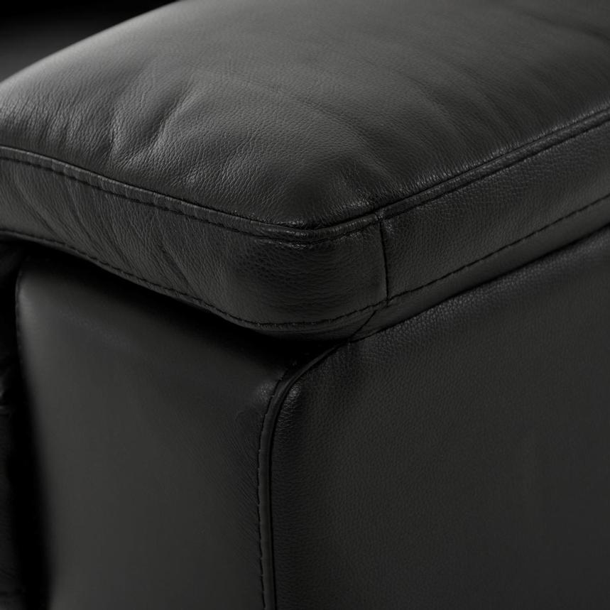 Charlie Black Leather Power Reclining Loveseat  alternate image, 8 of 11 images.