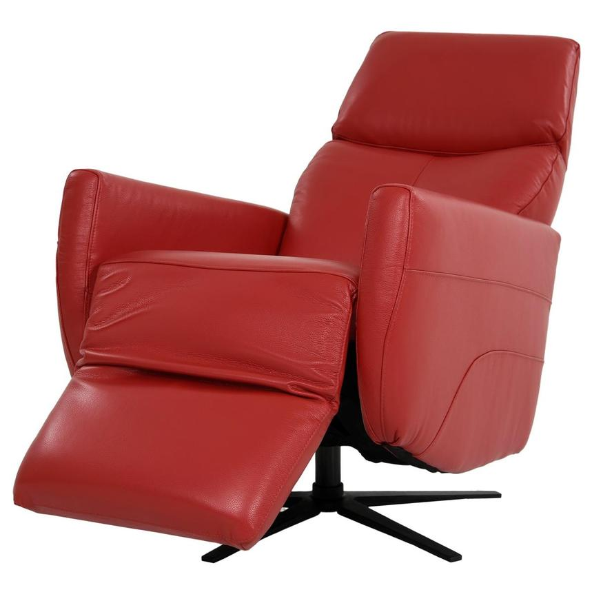 Kirk Red Power Motion Leather Recliner  alternate image, 4 of 10 images.