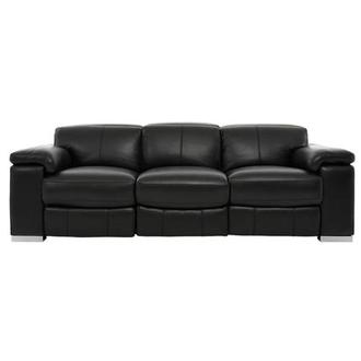 Charlie Black Leather Power Reclining Sofa