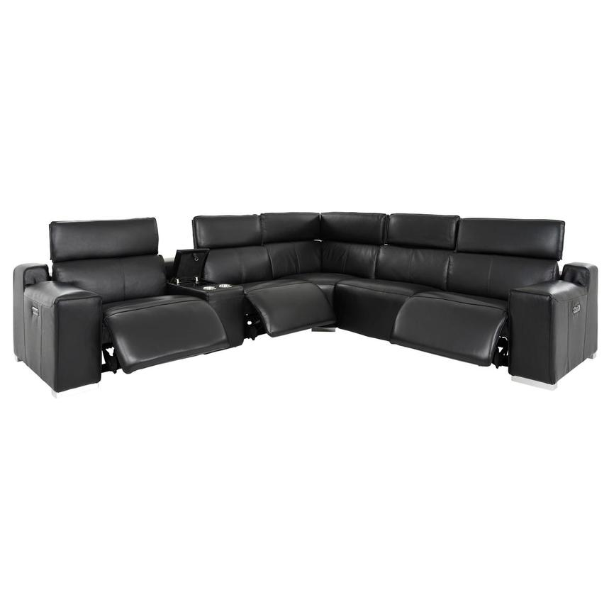 Jeremy Leather Power Reclining Sectional  alternate image, 3 of 12 images.
