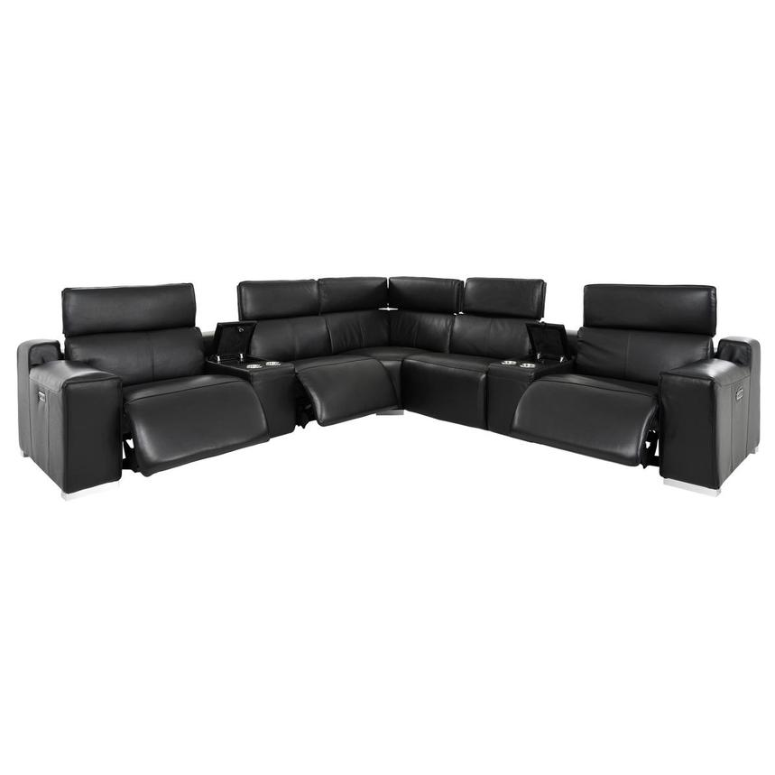 Jeremy Leather Power Reclining Sectional  alternate image, 3 of 11 images.