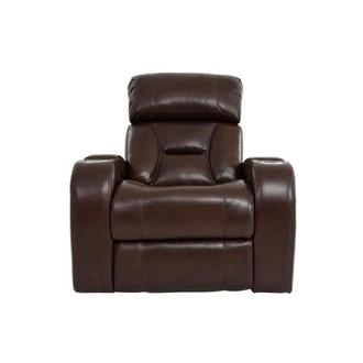 Gio Brown Leather Power Recliner