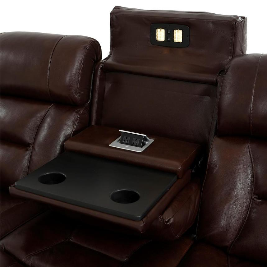 Gio Brown Leather Power Reclining Sofa  alternate image, 9 of 18 images.
