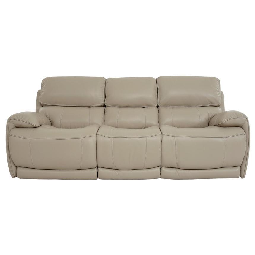 Cody Cream Leather Reclining Sofa