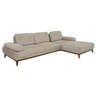 Pralin I Cream Corner Sofa w/Right Chaise