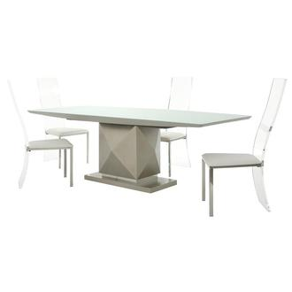 Marlon/Layra White 5-Piece Formal Dining Set