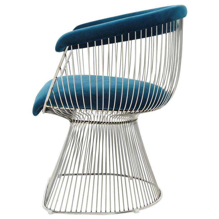 Aviary Blue Accent Chair  alternate image, 3 of 7 images.