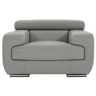 Grace Light Gray Leather Chair