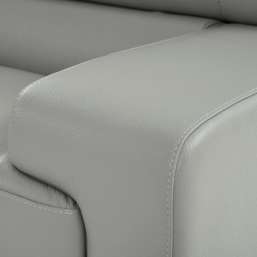 Grace Light Gray Leather Loveseat  alternate image, 8 of 9 images.