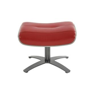 Enzo II Red Leather Ottoman