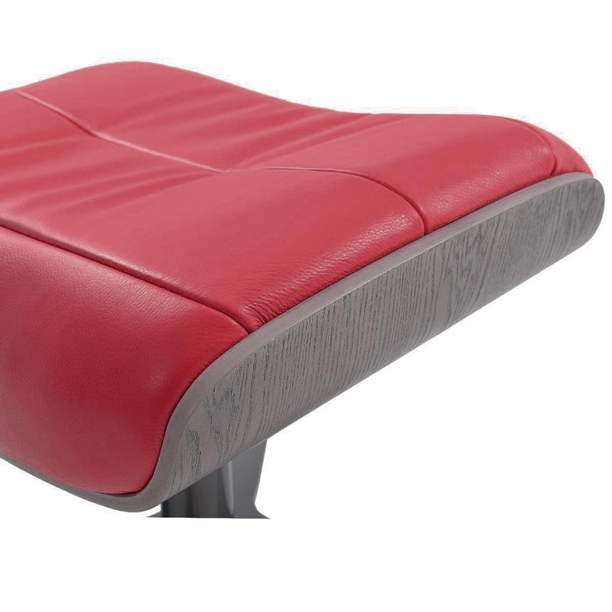 Enzo II Red Leather Ottoman  alternate image, 3 of 4 images.