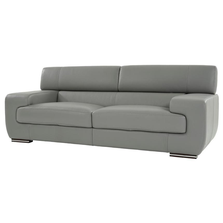 Awe Inspiring Grace Light Gray Leather Sofa Bralicious Painted Fabric Chair Ideas Braliciousco