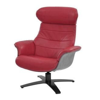 Enzo II Red Leather Swivel Chair