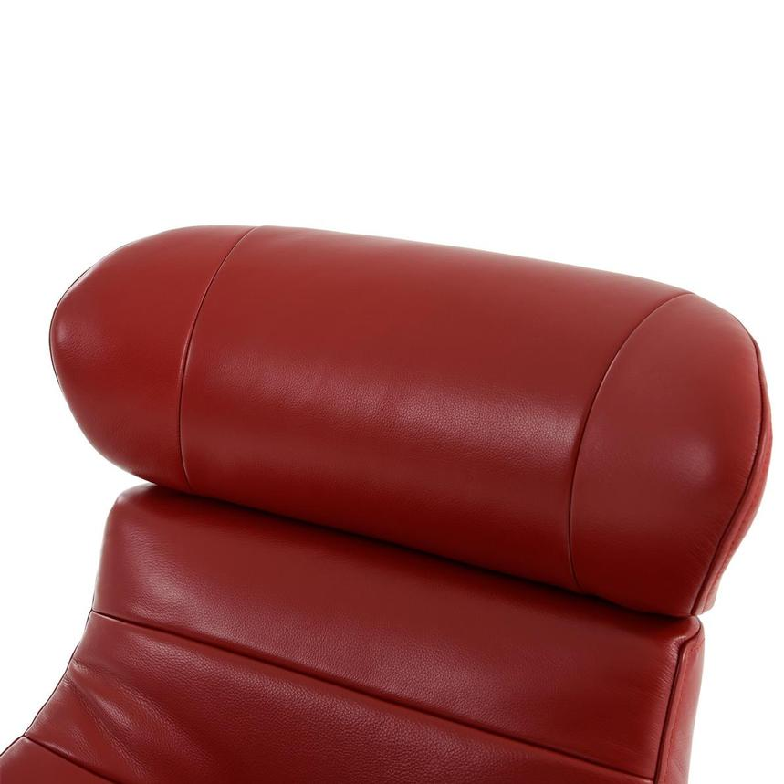 Enzo II Red Leather Swivel Chair  alternate image, 8 of 13 images.