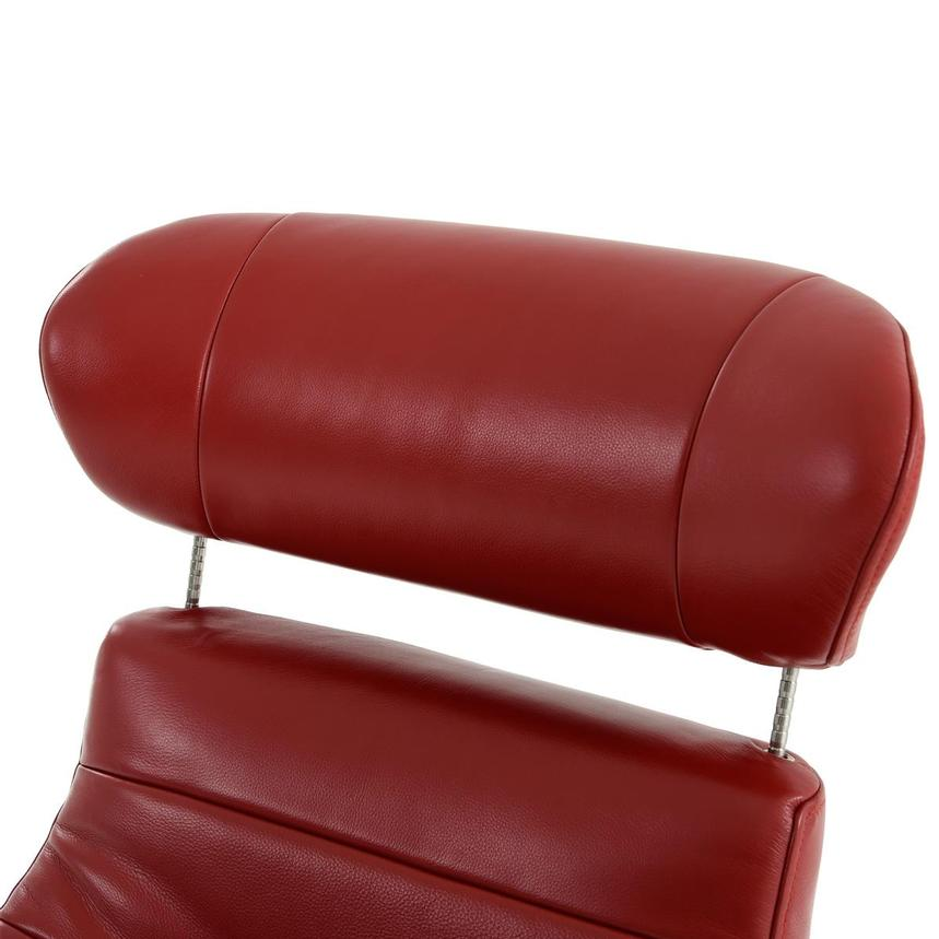 Enzo II Red Leather Swivel Chair  alternate image, 10 of 13 images.