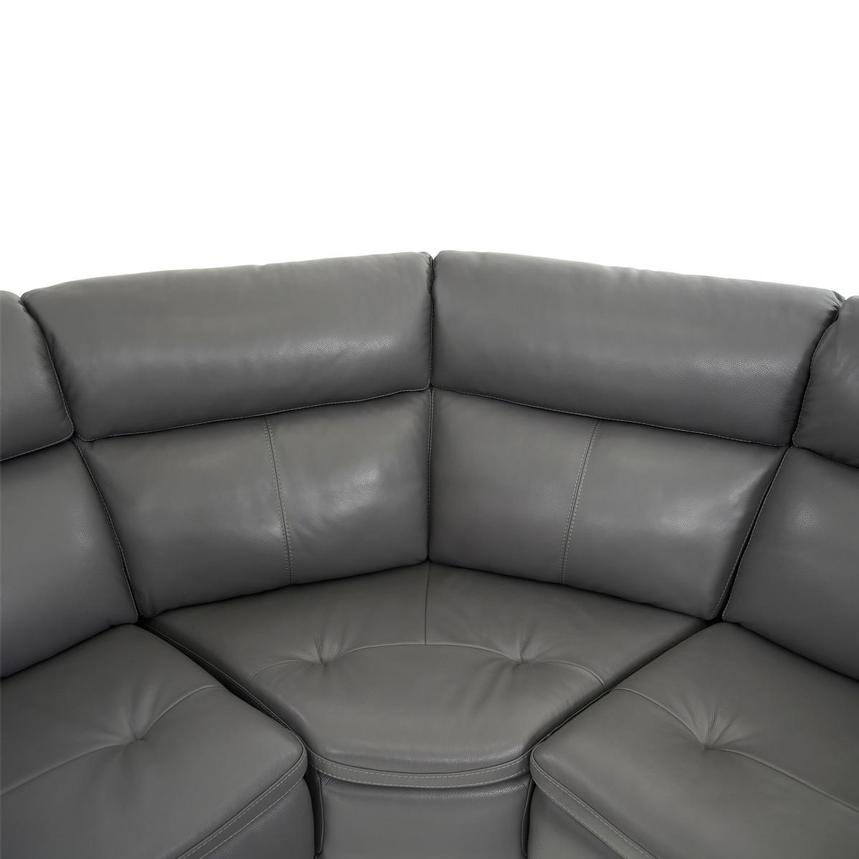 Matteo Gray Leather Power Reclining Sectional  alternate image, 8 of 11 images.