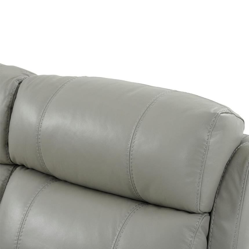 Ronald 2.0 Gray Leather Power Reclining Sectional  alternate image, 5 of 8 images.