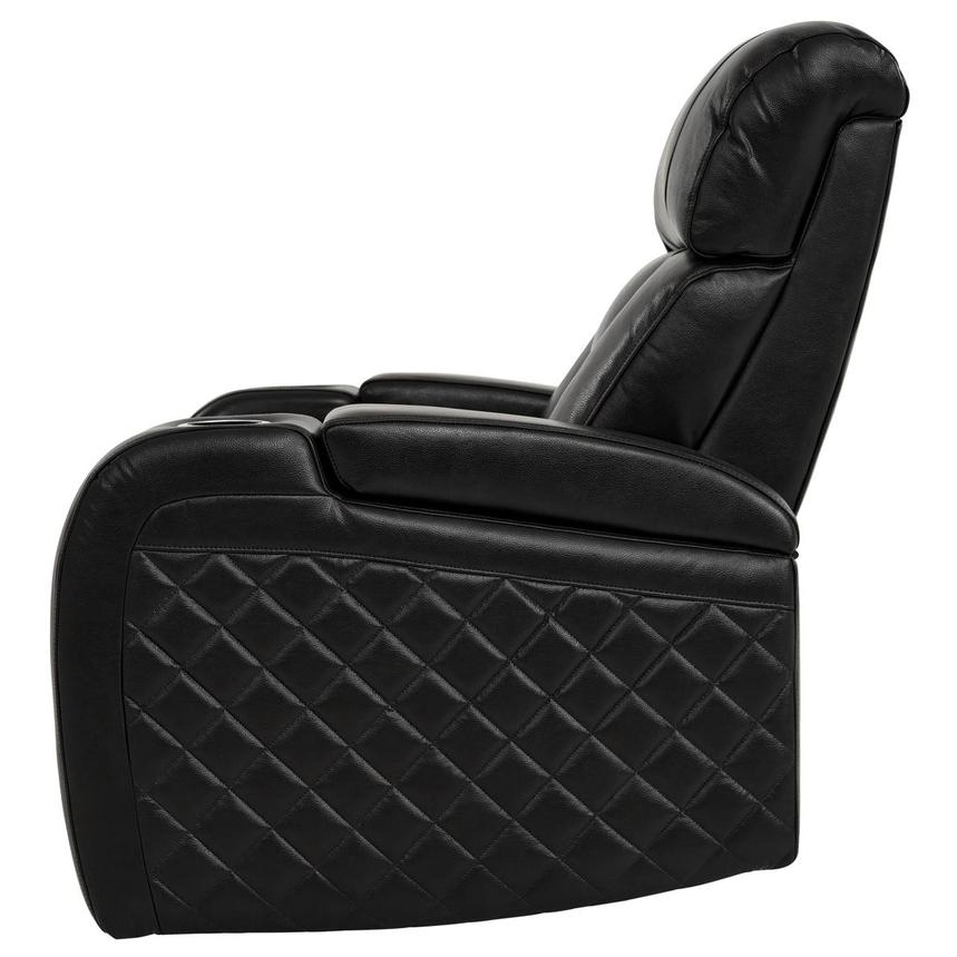 Gio Black Power Motion Leather Recliner  alternate image, 4 of 12 images.