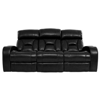 Gio Black Power Motion Leather Sofa