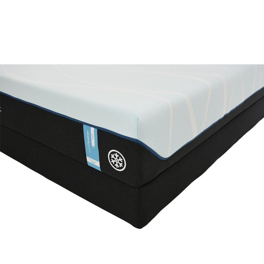 Luxe-Breeze Soft Queen Mattress w/Low Foundation by Tempur-Pedic  main image, 1 of 6 images.