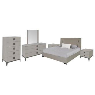 Mont Blanc Gray 6-Piece King Bedroom Set Made in Italy