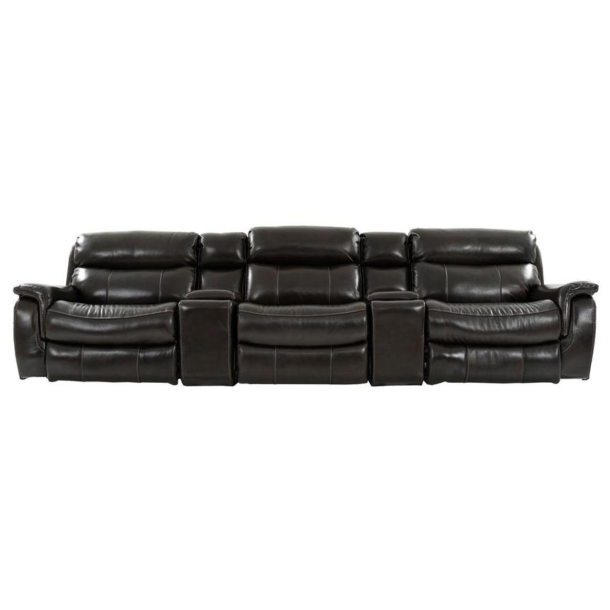 Jeremi Home Theater Leather Seating  main image, 1 of 10 images.