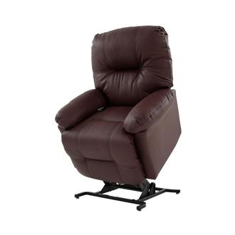 Wynette Burgundy Leather Power Lift Recliner