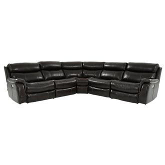 Jeremi Leather Power Reclining Sectional