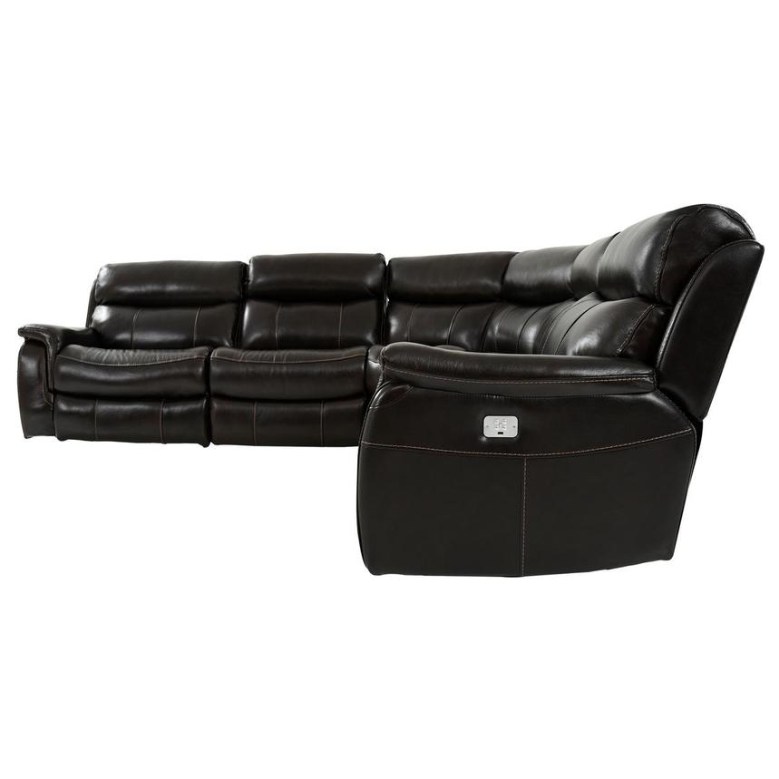 Jeremi Leather Power Reclining Sectional  alternate image, 3 of 8 images.