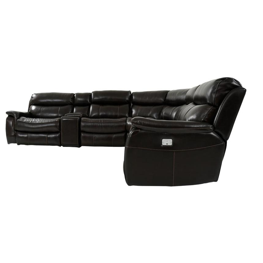Jeremi Leather Power Reclining Sectional  alternate image, 3 of 9 images.