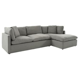 Neapolis Gray Corner Sofa w/Right Chaise