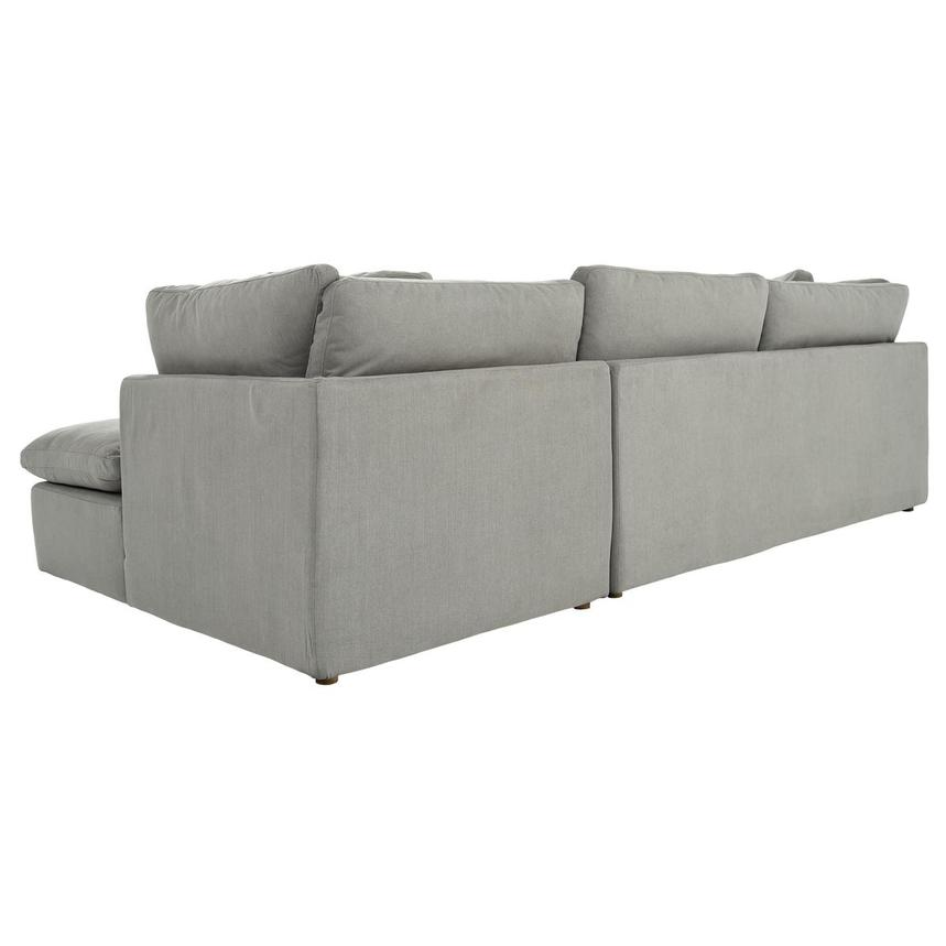Neapolis Gray Corner Sofa w/Right Chaise  alternate image, 4 of 6 images.