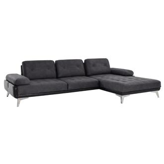 Pralin II Gray Sofa w/Right Chaise