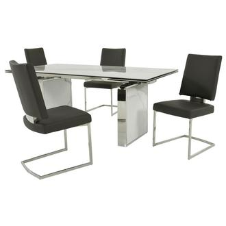 Sveva Gray 5-Piece Formal Dining Set